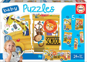 PUZZLES SCHOOL BUS DE ANIMALES