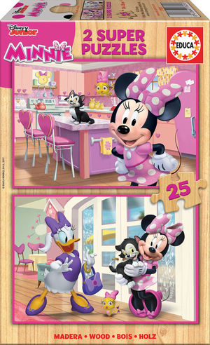 PUZZLES DISNEY MINNIE HAPPY 2*25 PIEZAS